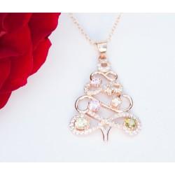 Rosegoud vergulde zilveren kerstboom