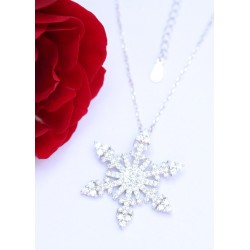 Zilveren sneeuwvlok
