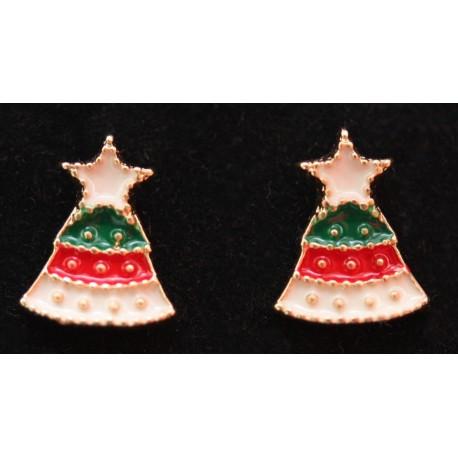Driekleurige kerstboompjes